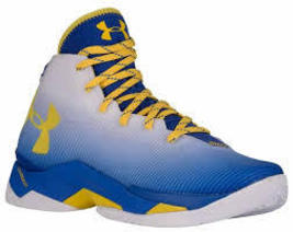 Under Armour Curry 2.5 Basketball Shoes 1274425-103 Size 9.0 Warriors Dub Colors - $159.00