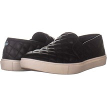 Steve Madden Ecentrcq Quilted Fashion Sneakers 354, Black, 7.5 US - $28.79