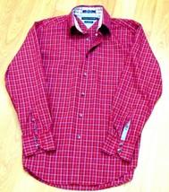 Tommy Hilfiger Mens L Long Sleeve Dress Shirt 80's 2 Ply Fabric Plaid Re... - $20.16