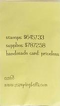"Stamping Bella ""Priceless"" Unmounted Rubber Stamp"