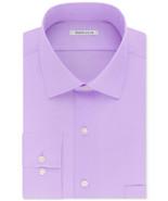 Van Heusen Soft Lilac Regular Fit Stretch Solid Dress Shirt - 17 32-33 - $21.95