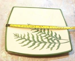 VINTAGE FERN PATTERN SQUARE SERVING PLATE MANCER MADE IN ITALY HAND PAINTED image 3
