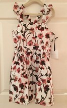 Victoria Beckham for Target White Ruffle Strap Pressed  Floral Dress Size M - $48.28