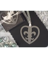 Mark It With Memories Fleur de Lis Within Heart Design Bookmark - 12 Pieces - $12.95