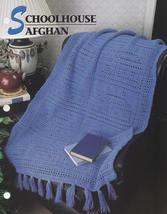 Schoolhouse Afghan, Annie's Crochet Quilt & Afghan Pattern Leaflet QAC32... - $2.95