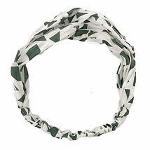 Cotton/Linen Vintage Elastic Hair Band Nylon Head Wrap Headband Hairband Green image 2