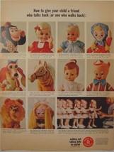 1965 Mattel Walking Talking Dolls Ad Chimp Chatty Pattaburp Tatters Mr Ed Etc - $9.99