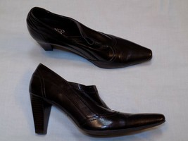 8.5 M Franco Sarto RIVA Faux Leather Brown ladies Womens Shoes Heels Work Oxford - $24.99