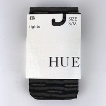 HUE Black Striped Circles Tights Patterned Control Top 10246 Size S/M - €10,98 EUR