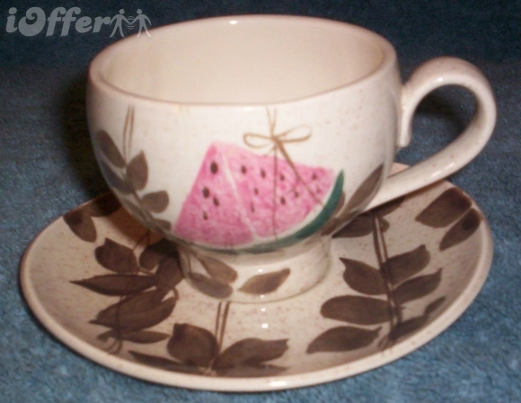 "Primary image for EAMES ERA MID CENTURY MODERN RETRO-REDWING TAMPICO CUP & SAUCER   2 5/8"" TALL"