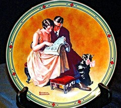 """1985 """"A  Couples Commitment""""  by Norman Rockwell Plate with Box ( Knowles ) AA20"""
