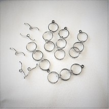 3 Ring Necklace Extender Toggle clasp, Pewter 1.75 Inch, 5 sets image 1
