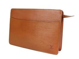 Authentic LOUIS VUITTON Pochette Homme Brown Epi Leather Clutch Bag LP1937 - $190.00