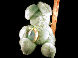 Easter Green Bunny With Rainbow Egg Plush Stuffed Animal Toy Doll - $6.43