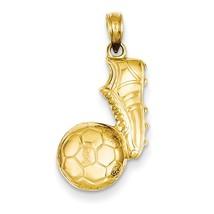 14K Yellow Gold Soccer Ball & Shoe Pendant - $192.99