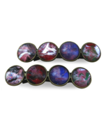 Multi-colored Marbled Hair Barrette - $13.00