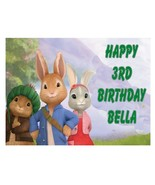 Peter Rabbit edible party cake topper decoration frosting sheet - $7.80