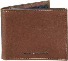 Tommy Hilfiger Men's Leather Bifold RFID Blocking Wallet With Zipper Coin Pocket image 2