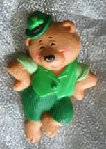 Hallmark Charming Irish Leprechaun Bear Brooch 1980s Vintage - $12.30