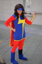 Custom-made Ms Marvel Costume, Ms Marvel Cosplay Halloween Costume with Boots - $119.00