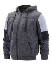 Boy's Soft Sherpa Lined Two Tone Quilted Juniors ZipUp Fleece Hoodie Kids Jacket image 15