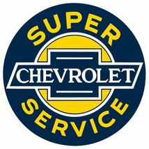 """Super Chevrolet Service"" Embossed Metal Sign, Transportation AR-2030071 - $23.48"