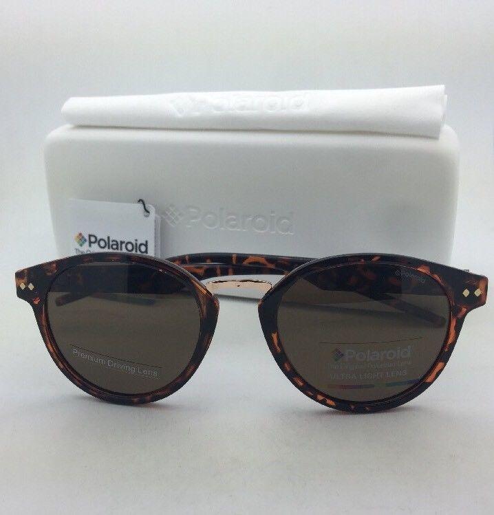 POLAROID Sunglasses PLD 1022/S V08IG 50-21 Havana Tortoise w/ Brown Polarized