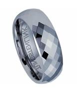 New Beautiful Diamond Cut Tungsten Carbide 8 mm Ring Size 10 - $69.29