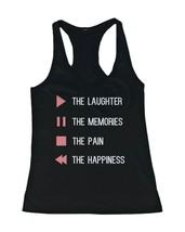 Women's Cute Tank Top - Control Button - Cute Gym Clothes, Workout Shirts - $14.99
