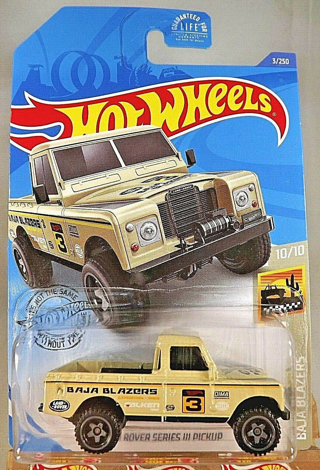 Primary image for 2020 Hot Wheels #3 Baja Blazers 10/10 LAND ROVER SERIES III PICKUP Tan Variation