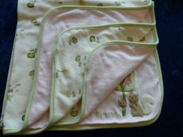 Gymboree baby blanket Girls little Squirrel Pink Green Trees Infant EUC ... - $49.49
