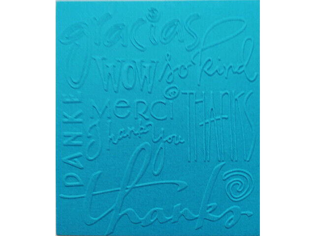 Cuttlebug Thank You Phrases Embossing Folder, Great for Card Making!