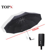 TopX® 125cm Big Automatic Top Quality Umbrella Rain Women 3Fold Windproo... - $39.00