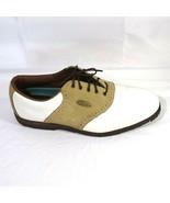 FootJoy Saddle Golf Shoes Women Size 11.5 M Softjoys Sierra  White Tan 5... - $17.81