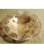 """7"""" Footed Goldtone Metal Candle or Candy Bowl FANCY - $10.76"""