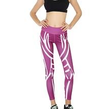 New Women Tight Leggings Print Yoga Sports Pants High Waist Training Pan... - $12.80