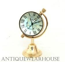 Table Top Shiny Brass Decorative Clock Handmade Working Clock Beautiful ... - £17.19 GBP