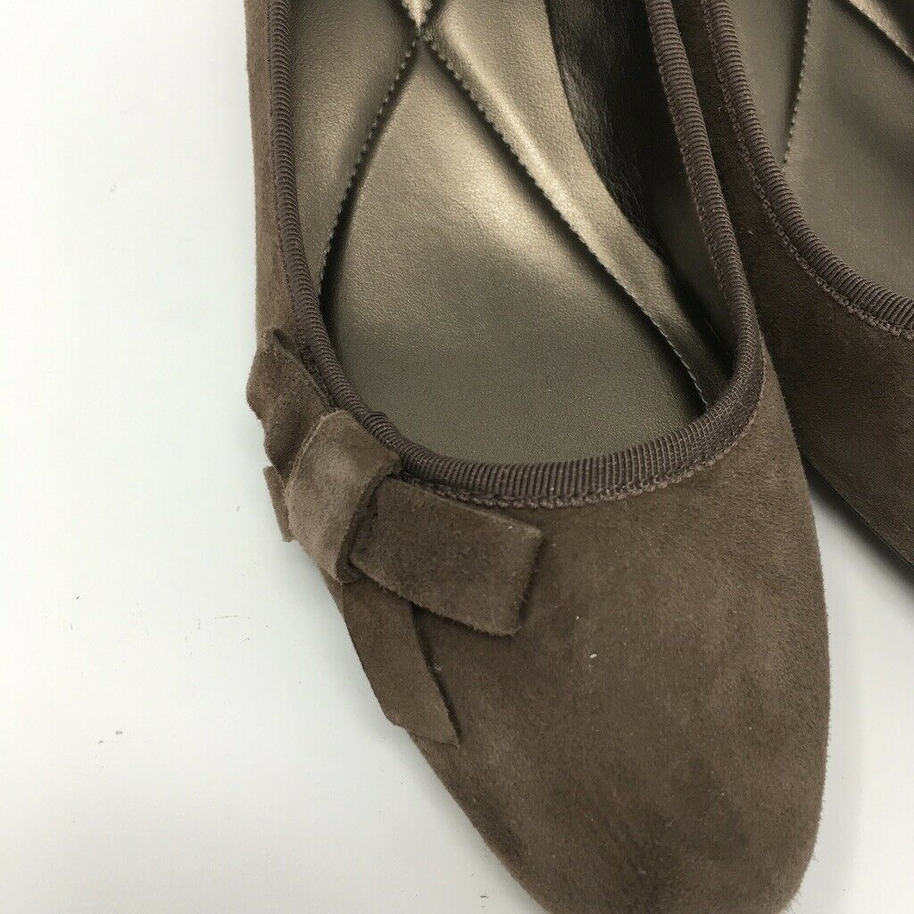 Easy Spirit Dress Wedge, Size 9, Brown, Memory Foam Insole, Bow Accent  NEW