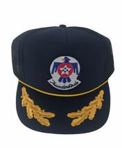 USAF Blue Thunderbirds Patch Trucker Hat Vintage Mesh Snapback Ball Cap - $24.74