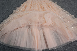 Blush Midi Tulle Skirt Outfit Puffy Tiered Tulle Skirt Blush Pink Holiday Skirt image 5