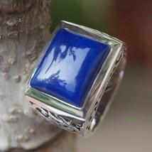 Lapis Princess Natural Gemstone 925 Sterling Silver size 6 Handmade IC315 - $37.39