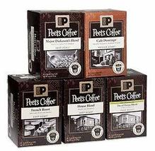 Peet's Coffee Single Cups Variety Sampler- 5 Boxes of Single Cups - $69.29