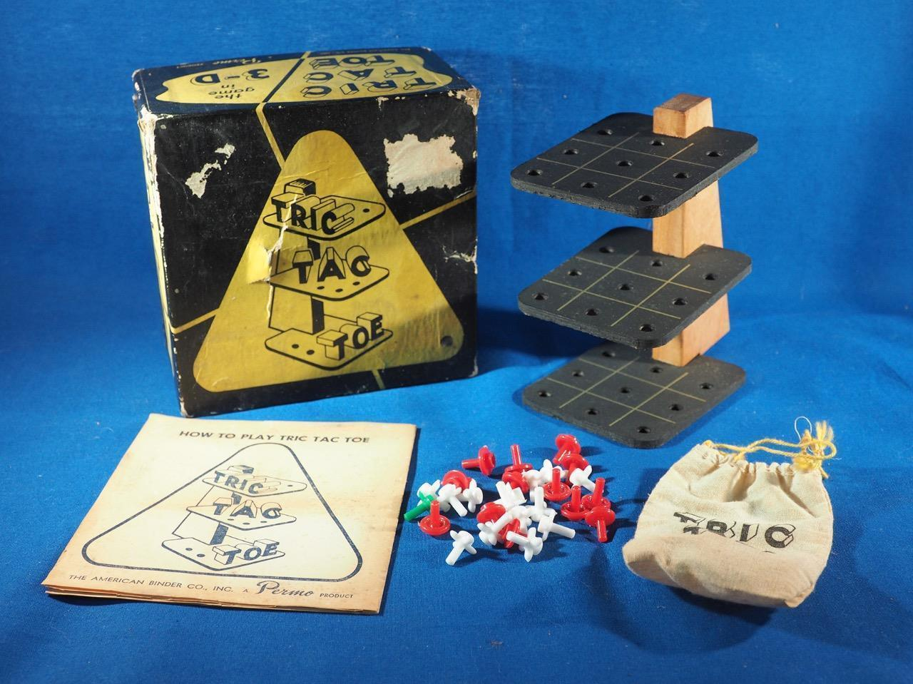 Vintage Tric Tac Toe Game