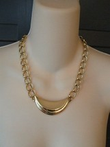 Monet Necklace and Matching Pierced Earrings Gold Tone VGC - $12.00