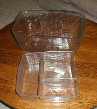 Longaberger Family Picnic 1999 Basket 2 piece Plastic Protector Set Only - $29.74