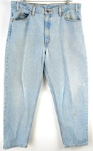 VTG Levi's Men 550 Light Wash Denim Tapered Leg Orange Tab Jeans sz 37x28.5 - $32.67