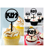 Wedding,Birthday,Cupcake topper,silhouette kiss band Package : 10 pcs - $10.00