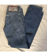 Women's True Religion Bobby Super T Jeans Waist 28 Inseam 33 Distressed  - $34.64