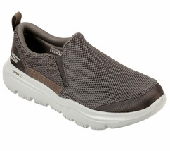 Skechers Khaki Extra Wide Fit shoes Men Comfort Soft Slipon Casual Gowal... - $39.99