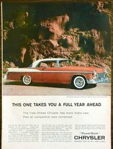 1956 Chrysler Windsor V-8 Newport PRINT AD Takes You One Year Ahead - $10.70